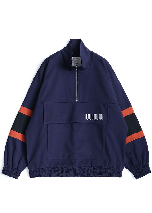 BIG POCKET HALF ZIP PO/Navy