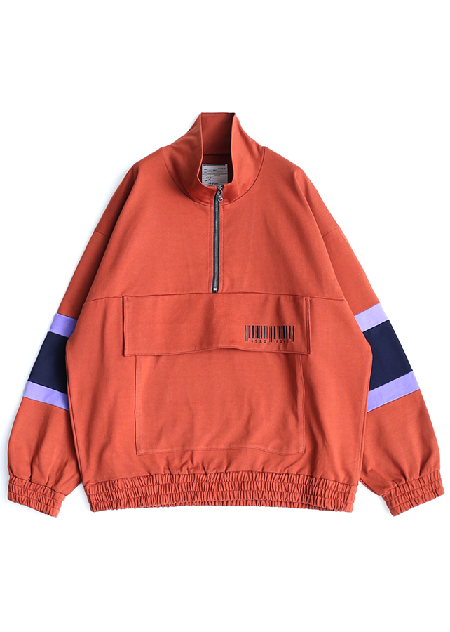 BIG POCKET HALF ZIP PO/Orange