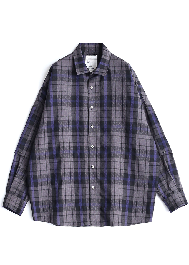 CHECK JACQUARD L/S/Black Check