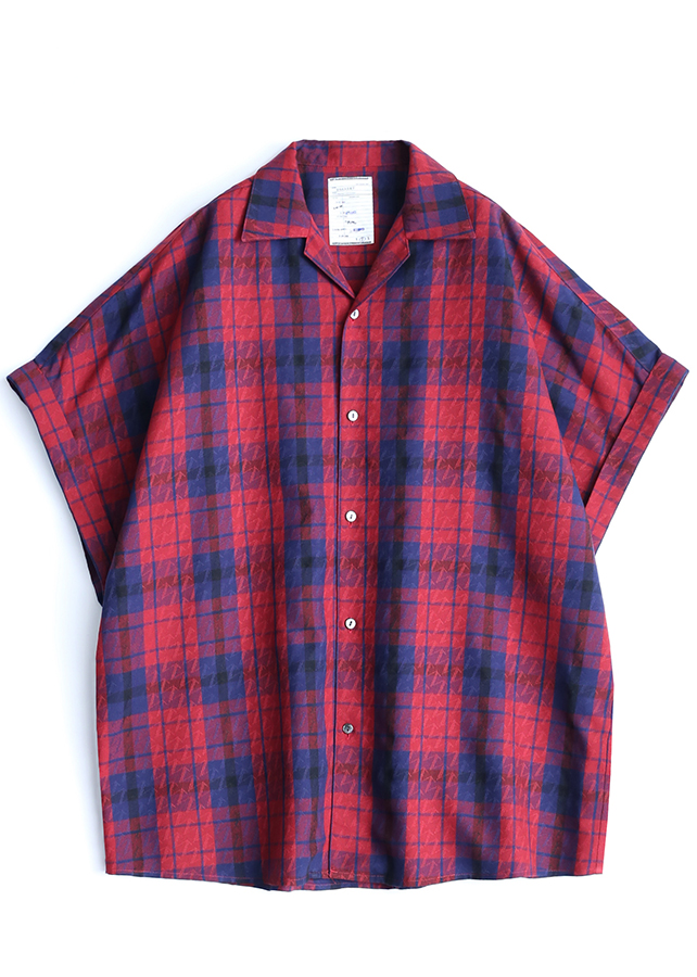 CHECK JACQUARD S/S/Red Check