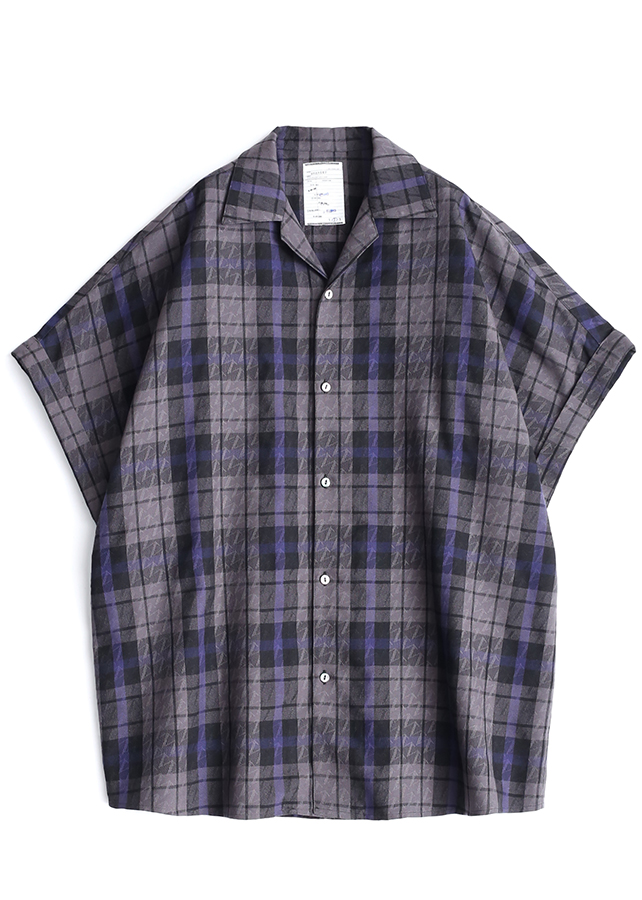 CHECK JACQUARD S/S/Black Check