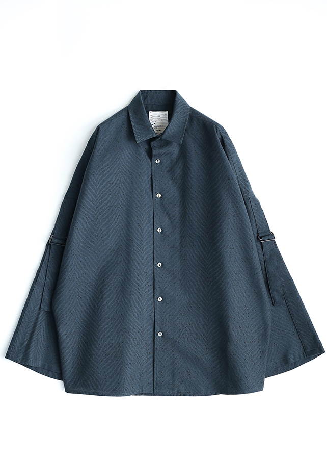 ZEBRA JQ WIDE/SLEEVE BIG SHIRTS/Navy Green