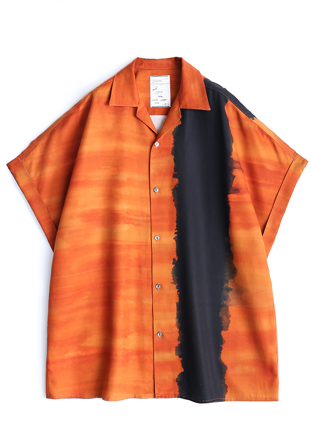 PATTERNED ALL OVER S/S BIG SHIRTS/Orange