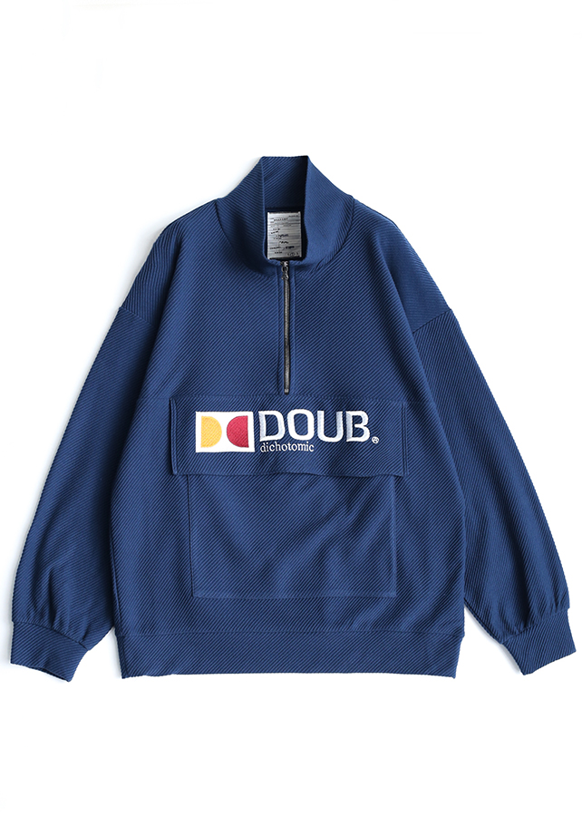 """DOUB"" HALF ZIP PO/Navy Green"