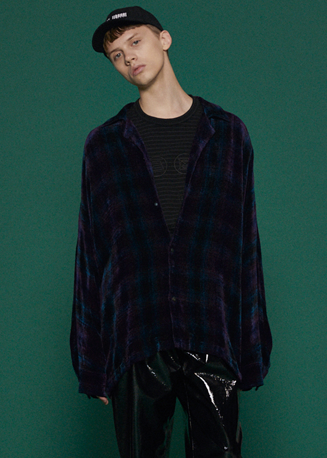 MOLE CHECK DOLMAN SHIRTS/Green