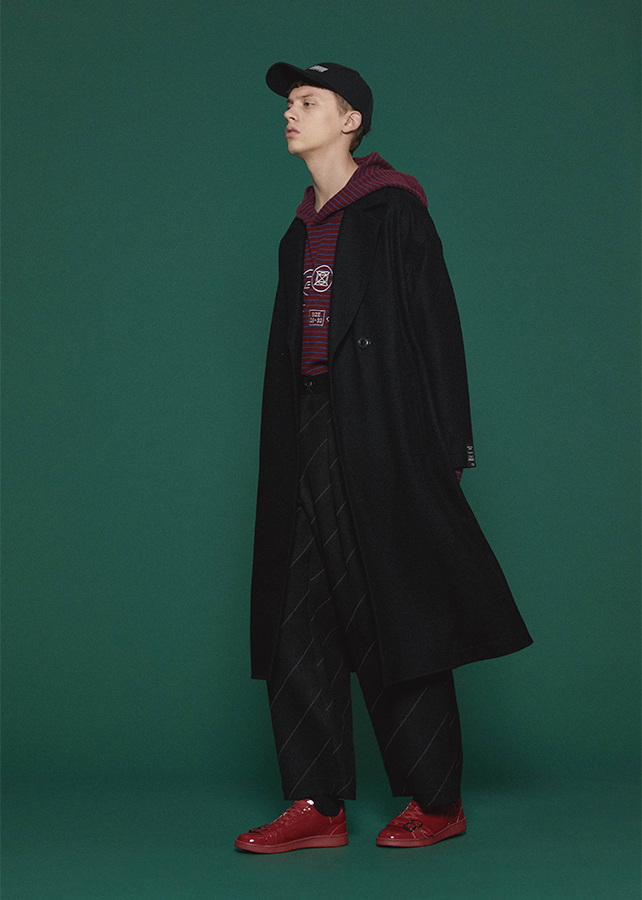 MELTON LONG COAT/Black