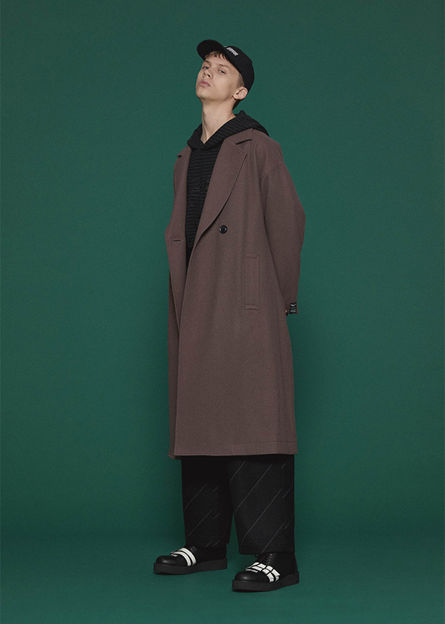 MELTON LONG COAT/Mokha
