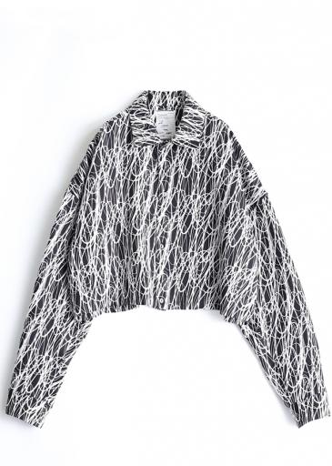 DRAWING PT  L/S SHORT SHIRTS/White