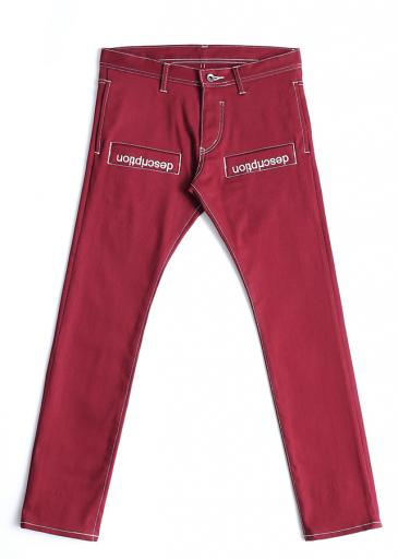 STRETCH TWILL SKINNY PANTS/Red
