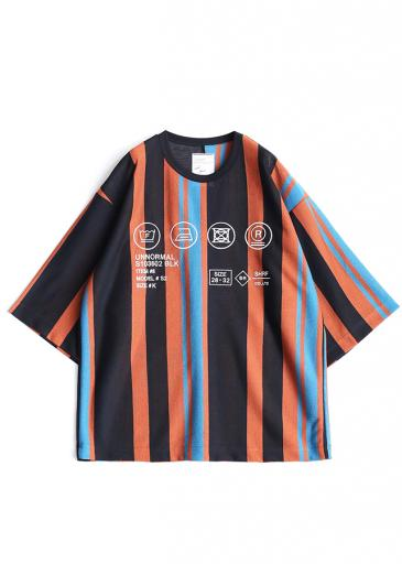 BE MALTI STRIPE S/S BIG-T/Orange