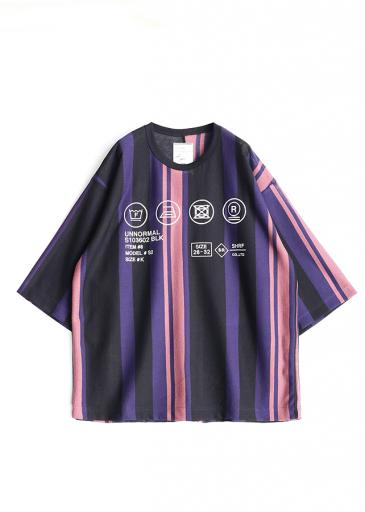 BE MALTI STRIPE S/S BIG-T/Purple