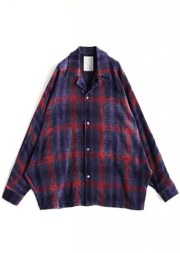 MOLE CHECK DOLMAN SHIRTS/Red