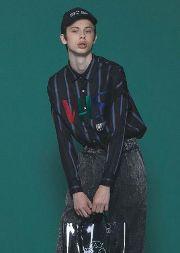 RGB STRIPE BIG SHIRTS/RGB Stripe
