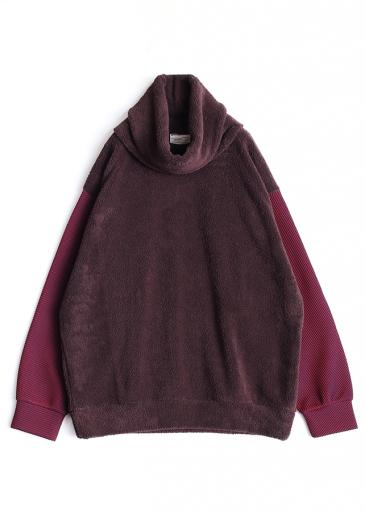 POLYESTER MOLE PULL OVER  (REMOVABLE NECK)/Brown