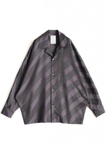 BIAS STRIPE DOLMAN SHIRTS/Black