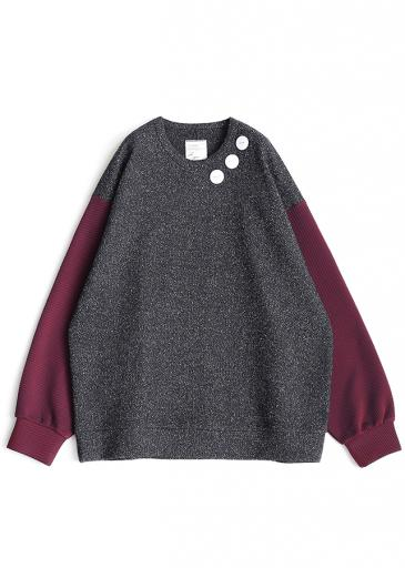 NEP WOOL L/S PULL OVER/Black