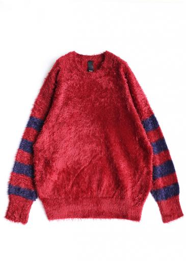 LONG SHAGGY PULL-OVER/Red