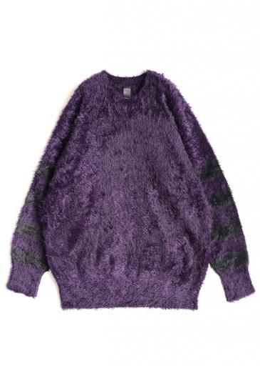 LONG SHAGGY PULL-OVER/Purple