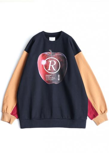 """APPLE R""  BIG SWEAT/Camel"