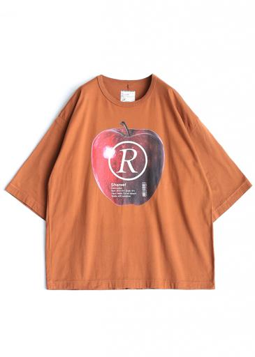 """APPLE R""  S/S BIG-T/Orange"