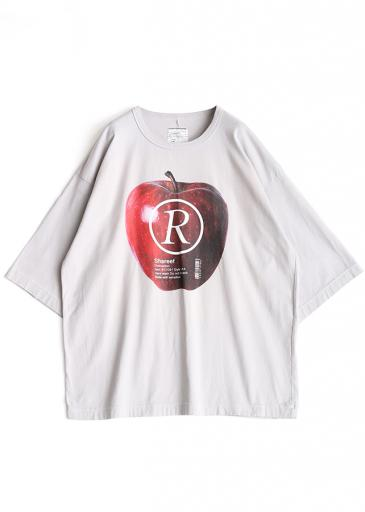 """APPLE R""  S/S BIG-T/Ice Gray"