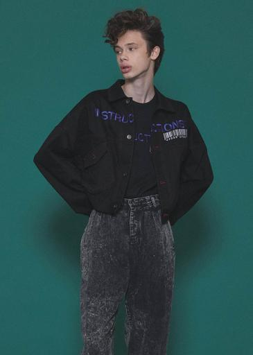 COLOR DENIM BLOUSON/Black