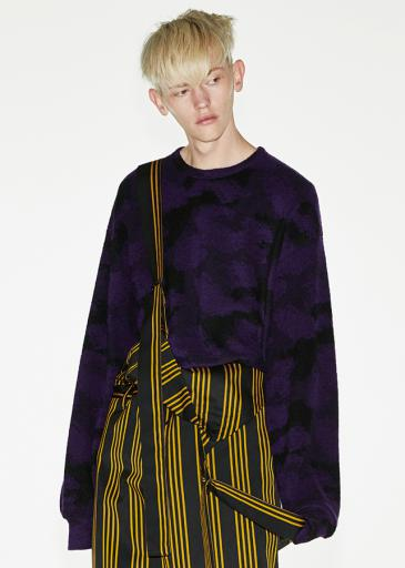 PILE JQ L/S PULL OVER/Purple