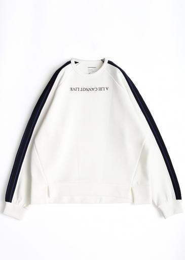 SHADOW BORDER L/S PULL OVER/White