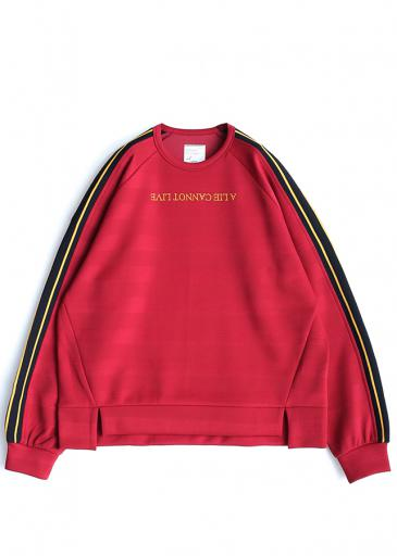 SHADOW BORDER L/S PULL OVER/Red