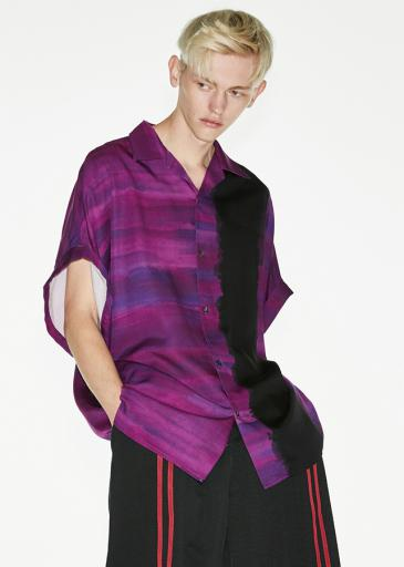 PATTERNED ALL OVER S/S BIG SHIRTS/Purple