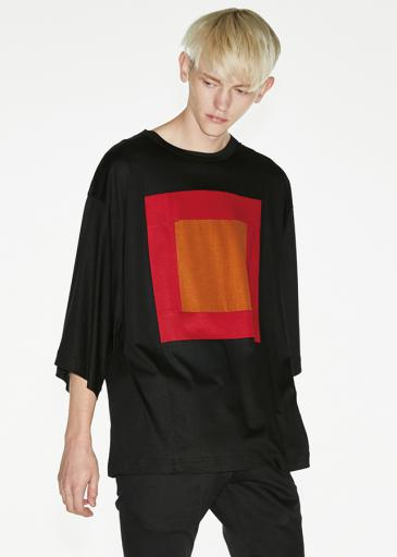 "Ly/C SINGLE JERSEY BIG-T ""SQUARE""/ Black*Red"
