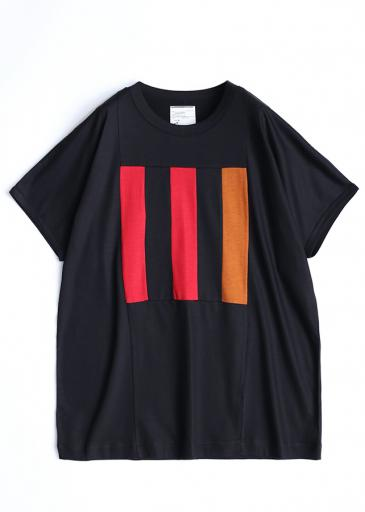 "Ly/C SINGLE JERSEY BIG-T ""LINE""/ Black*Red"
