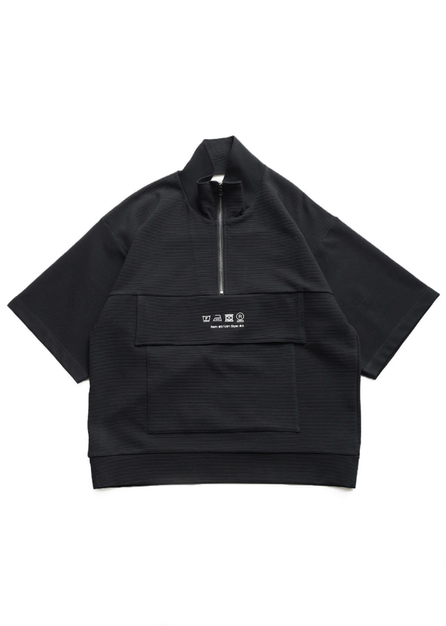 RIPPLE HALF ZIP S/S BIG-T