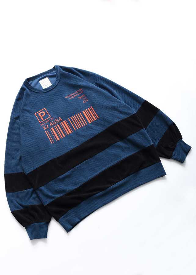 CHECK VELOUR L/S PULL OVER