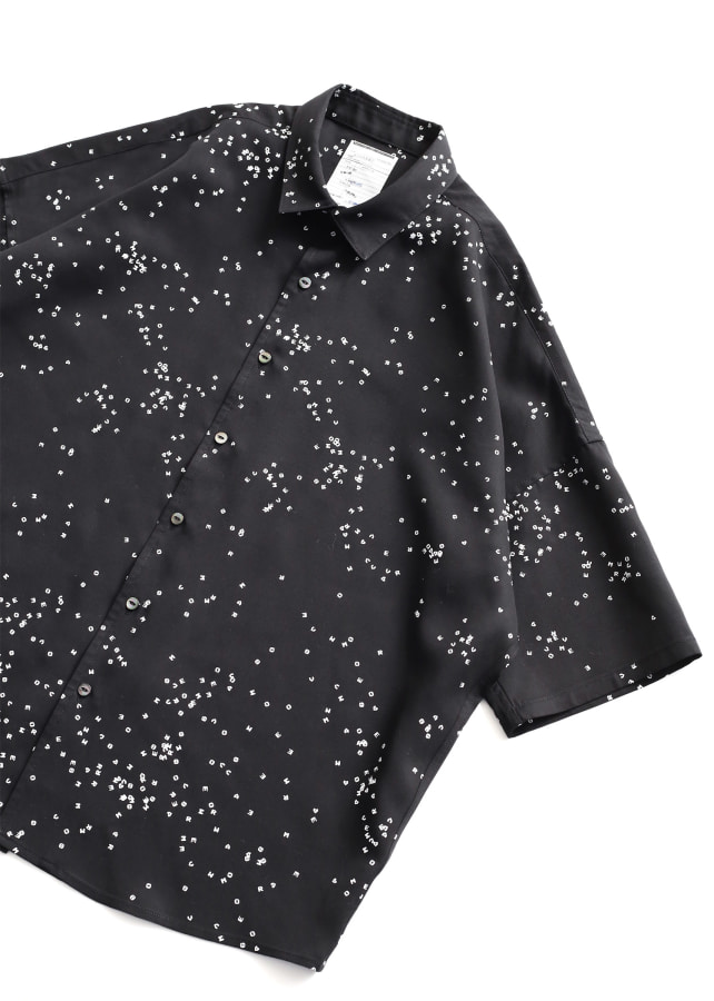 DOT PATTERN S/S BIG SHIRTS