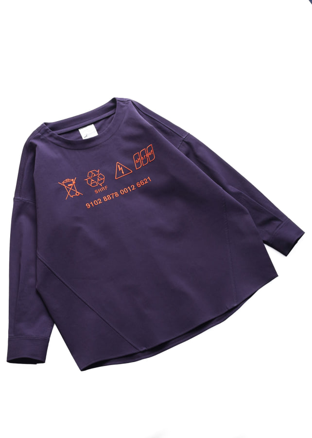 COTTON PIQUE L/S PULL OVER