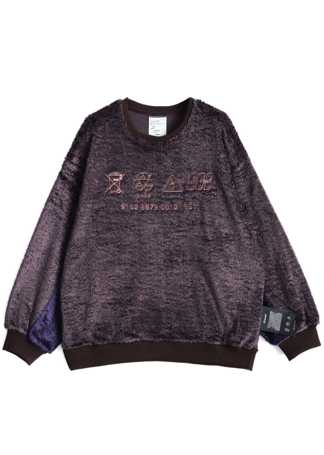 NYLON SHAGGY L/S PULL OVER