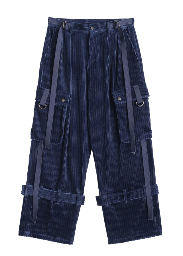 STEP CORDUROY CARGO PANTS