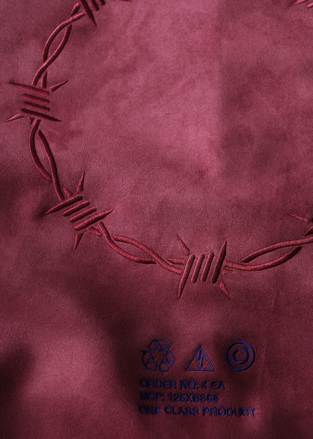 """BARBED WIRE"" MICRO SUEDE SWEAT"