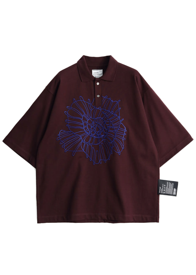 """ABSTRACT FLOWER""emb. BIG POLO"