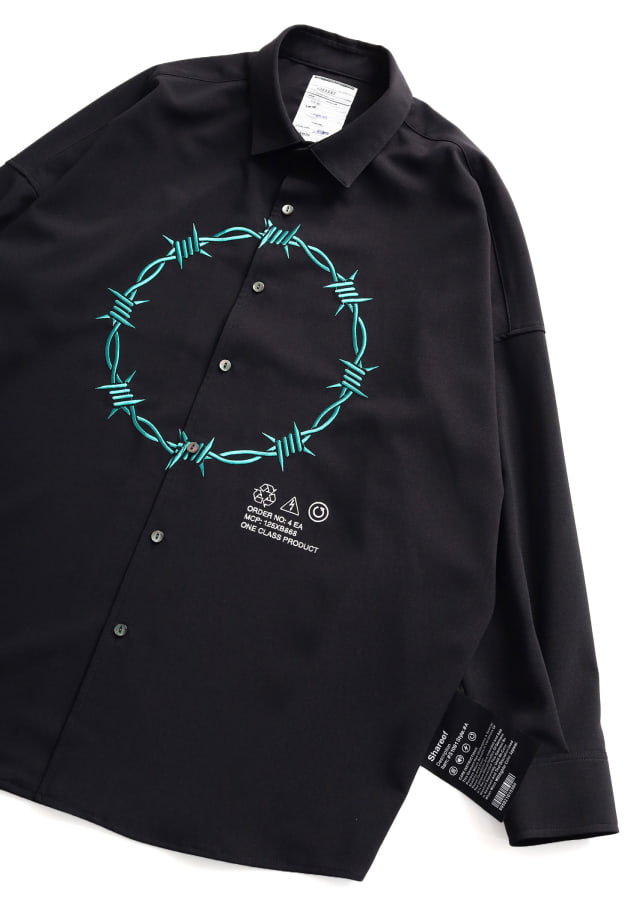 """BARBED WIRE""emb. L/S SHIRTS"