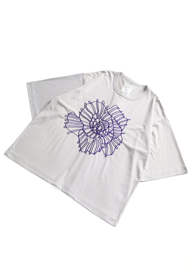 ABSTRACT FLOWERemb. S/S BIG T